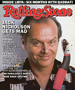 Actors Photo Prints - Rolling Stone Cover - Volume #480 - 8/14/1986 - Jack Nicholson Print by Herb Ritts