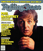 Paul Mccartney Framed Prints - Rolling Stone Cover - Volume #482 - 9/11/1986 - Paul McCartney Framed Print by Harry DeZitter