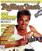 Don Photo Prints - Rolling Stone Cover - Volume #483 - 9/25/1986 - Don Johnson Print by E.J. Camp