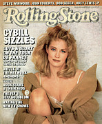 Cybill Shepherd Framed Prints - Rolling Stone Cover - Volume #484 - 10/9/1986 - Cybill Shepherd Framed Print by Matthew Rolston