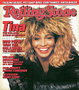 Turner Framed Prints - Rolling Stone Cover - Volume #485 - 10/23/1986 - Tina Turner Framed Print by Matthew Rolston