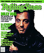 Joel Framed Prints - Rolling Stone Cover - Volume #486 - 11/6/1986 - Billy Joel Framed Print by Albert Watson