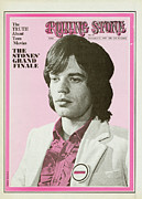 Magazine Metal Prints - Rolling Stone Cover - Volume #49 - 12/27/1969 - Mick Jagger Metal Print by Baron Wolman
