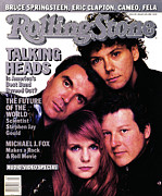 Talking Metal Prints - Rolling Stone Cover - Volume #491 - 1/15/1987 - Talking Heads Metal Print by Richard Corman