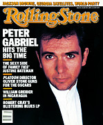 Peter Framed Prints - Rolling Stone Cover - Volume #492 - 1/29/1987 - Peter Gabriel Framed Print by Robert Mapplethorpe
