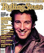 Bruce Photo Acrylic Prints - Rolling Stone Cover - Volume #494 - 2/26/1987 - Bruce Springsteen Acrylic Print by Albert Watson