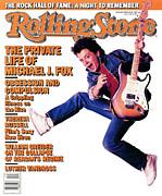 J Prints - Rolling Stone Cover - Volume #495 - 3/12/1987 - Michael J. Fox Print by Deborah Feingold