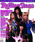 Rollingstone Posters - Rolling Stone Cover - Volume #496 - 3/25/1987 - Bangles  Poster by Bonnie Schiffman