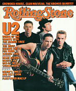 Cover Photo Framed Prints - Rolling Stone Cover - Volume #499 - 5/7/1987 - U2 Framed Print by Anton Corbijn