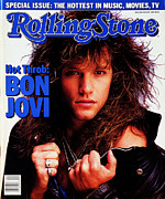 Featured Framed Prints - Rolling Stone Cover - Volume #500 - 5/21/1987 - Jon Bon Jovi Framed Print by E.J. Camp