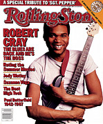 Featured Framed Prints - Rolling Stone Cover - Volume #502 - 6/18/1987 - Robert Cray Framed Print by Deborah Feingold