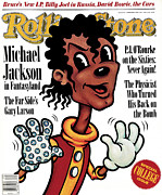 Michael Photo Prints - Rolling Stone Cover - Volume #509 - 9/24/1987 - Michael Jackson Print by Anita Kunz