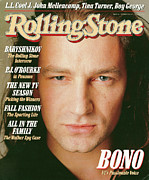 Bono Metal Prints - Rolling Stone Cover - Volume #510 - 10/8/1987 - Bono Metal Print by Matthew Rolston