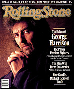 Featured Framed Prints - Rolling Stone Cover - Volume #511 - 10/22/1987 - George Harrison Framed Print by William Coupon