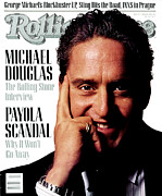 Douglas Framed Prints - Rolling Stone Cover - Volume #517 - 1/14/1988 - Michael Douglas Framed Print by Albert Watson