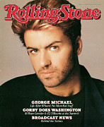 Michael Photo Framed Prints - Rolling Stone Cover - Volume #518 - 1/28/1988 - George Michael Framed Print by Matthew Rolston