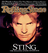 Sting Framed Prints - Rolling Stone Cover - Volume #519 - 2/11/1988 - Sting Framed Print by Matt Mahurin