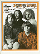 Featured Prints - Rolling Stone Cover - Volume #52 - 2/21/1970 - Creedence Clearwater Revival Print by Baron Wolman