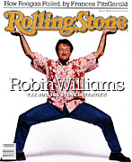 Williams Photo Framed Prints - Rolling Stone Cover - Volume #520 - 2/25/1988 - Robin Williams Framed Print by Bonnie Schiffman