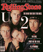 U2 Photo Framed Prints - Rolling Stone Cover - Volume #521 - 3/10/1988 - U2 Framed Print by Matthew Rolston