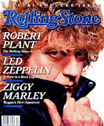 Featured Art - Rolling Stone Cover - Volume #522 - 3/24/1988 - Robert Plant by David Montgomery