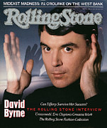 David Metal Prints - Rolling Stone Cover - Volume #524 - 4/21/1988 - David Byrne Metal Print by Hiro