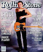 Bruce Springsteen Photo Prints - Rolling Stone Cover - Volume #525 - 5/5/1988 - Bruce Springsteen Print by Neal Preston