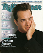 Tom Framed Prints - Rolling Stone Cover - Volume #529 - 6/30/1988 - Tom Hanks Framed Print by Herb Ritts