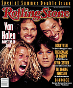 Van Halen Metal Prints - Rolling Stone Cover - Volume #530 - 7/14/1988 - Van Halen Metal Print by Timothy White