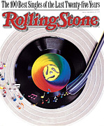"\""rock N Roll\\\"" Posters - Rolling Stone Cover - Volume #534 - 9/8/1988 - 100 Greatest Singles Poster by Steve Pietzsch"