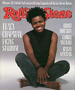 Chapman Framed Prints - Rolling Stone Cover - Volume #535 - 9/22/1988 - Tracy Chapman Framed Print by Herb Ritts
