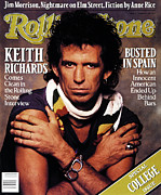 Keith Richards Framed Prints - Rolling Stone Cover - Volume #536 - 10/6/1988 - Keith Richards Framed Print by Albert Watson