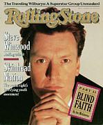 Steve Framed Prints - Rolling Stone Cover - Volume #540 - 12/1/1988 - Steve Winwood Framed Print by Herb Ritts