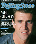 Gibson Framed Prints - Rolling Stone Cover - Volume #543 - 1/12/1989 - Mel Gibson Framed Print by Herb Ritts
