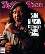 Sam Framed Prints - Rolling Stone Cover - Volume #546 - 2/23/1989 - Sam Kinison Framed Print by Mark Seliger