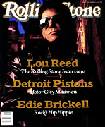 Reed Framed Prints - Rolling Stone Cover - Volume #551 - 5/4/1989 - Lou Reed Framed Print by Mark Seliger