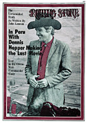 Dennis Framed Prints - Rolling Stone Cover - Volume #56 - 4/16/1970 - Dennis Hopper Framed Print by Michael Anderson Jr.