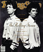 Mick Jagger Metal Prints - Rolling Stone Cover - Volume #560 - 9/7/1989 - Mick Jagger and Keith Richards Metal Print by Albert Watson