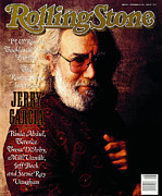 Featured Framed Prints - Rolling Stone Cover - Volume #566 - 11/30/1989 - Jerry Garcia Framed Print by William Coupon