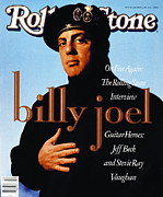 Joel Framed Prints - Rolling Stone Cover - Volume #570 - 1/25/1990 - Billy Joel Framed Print by Timothy White