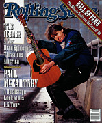 Paul Mccartney Prints - Rolling Stone Cover - Volume #571 - 2/8/1990 - Paul McCartney Print by Timothy White