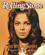 Jackson Photo Framed Prints - Rolling Stone Cover - Volume #572 - 2/22/1990 - Janet Jackson Framed Print by Matthew Rolston