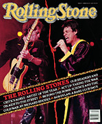 Keith Richards Prints - Rolling Stone Cover - Volume #573 - 3/8/1990 - Mick Jagger and Keith Richards Print by Neal Preston