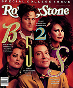 Rolling Stone Magazine Art - Rolling Stone Cover - Volume #574 - 3/22/1990 - B 52s by Mark Seliger
