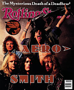 Aerosmith Framed Prints - Rolling Stone Cover - Volume #575 - 4/5/1990 - Aerosmith Framed Print by Mark Seliger