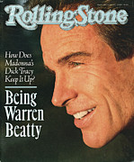 Featured Prints - Rolling Stone Cover - Volume #579 - 5/31/1990 - Warren Beatty Print by Herb Ritts