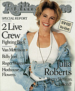 Julia Acrylic Prints - Rolling Stone Cover - Volume #584 - 8/9/1990 - Julia Roberts Acrylic Print by Herb Ritts