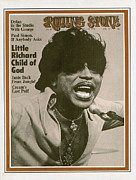Little Rock Framed Prints - Rolling Stone Cover - Volume #59 - 5/28/1970 - Little Richard Framed Print by Baron Wolman