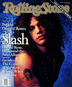 Slash Metal Prints - Rolling Stone Cover - Volume #596 - 1/24/1991 - Slash Metal Print by Mark Seliger