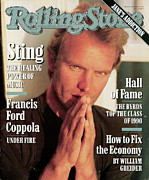Sting Framed Prints - Rolling Stone Cover - Volume #597 - 2/7/1991 - Sting Framed Print by Herb Ritts